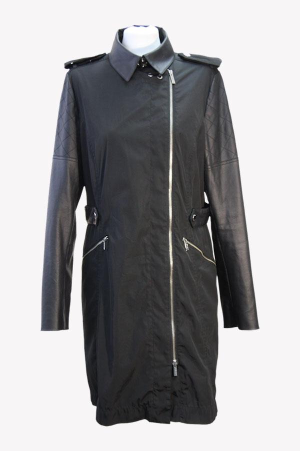 Karen Millen Mantel in Schwarz aus Polyester Alle Jahreszeiten.1