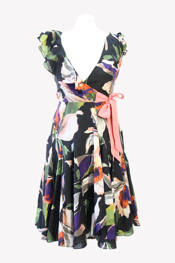 Ted Baker Wickelkleid mit Blumenmuster aus Baumwolle Alle Jahreszeiten.1