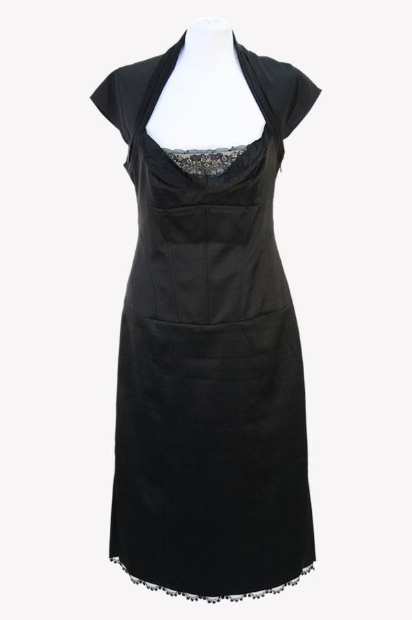 Karen Millen Etuikleid in Schwarz aus Polyester Alle Jahreszeiten.1