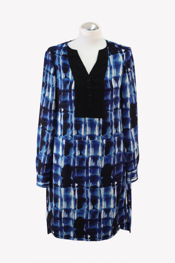 Karen Millen Hemdblusenkleid in Blau aus Polyester Alle Jahreszeiten.1