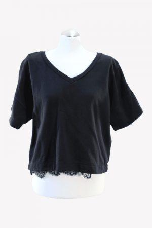 French Connection Sweatshirt in Schwarz aus Baumwolle Alle Jahreszeiten.1