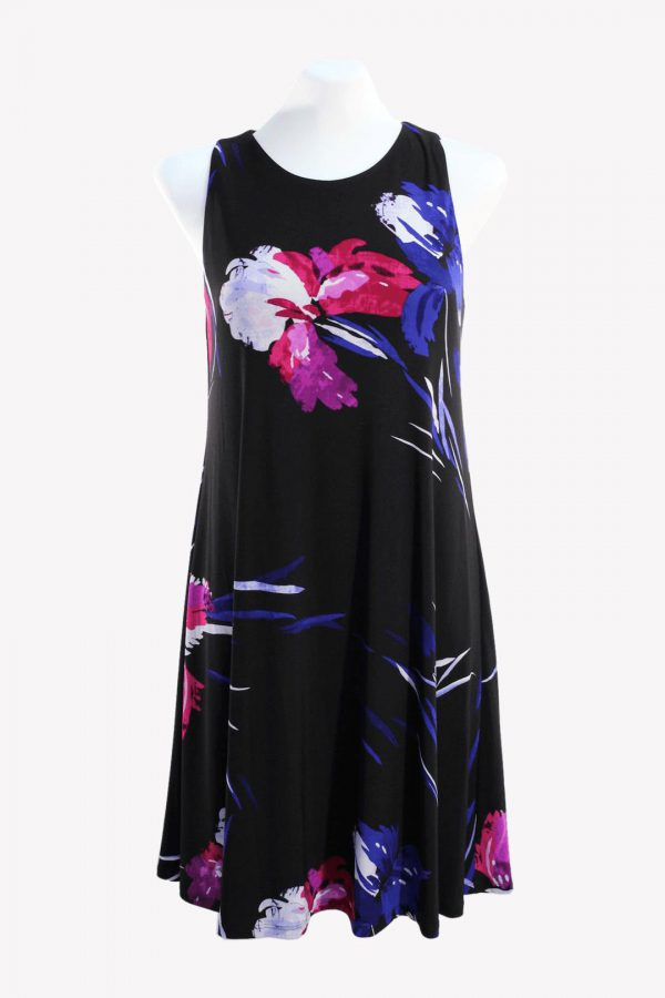 Ralph Lauren Kleid mit Muster aus Polyester Alle Jahreszeiten.1