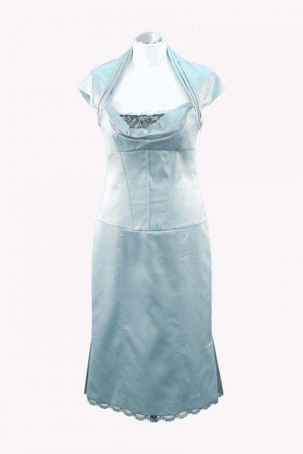 Karen Millen Kleid in Blau aus Polyester Alle Jahreszeiten.1