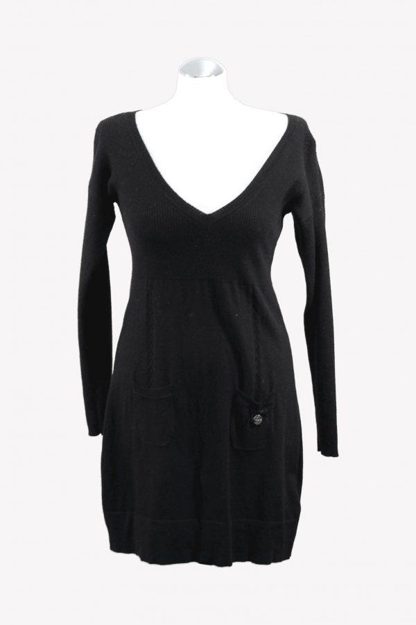 Karen Millen Wollkleid in Schwarz aus Wolle Alle Jahreszeiten.1