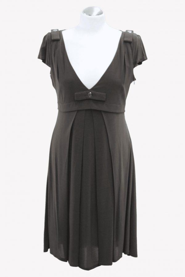 Karen Millen Kleid in Khaki aus Viskose Alle Jahreszeiten.1