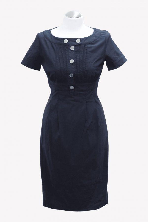 Karen Millen Kleid in Dunkelblau aus Baumwolle Alle Jahreszeiten.1