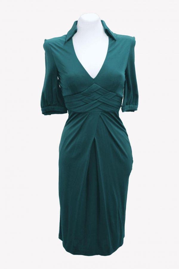 Karen Millen Kleid in Grün aus Viskose Alle Jahreszeiten.1