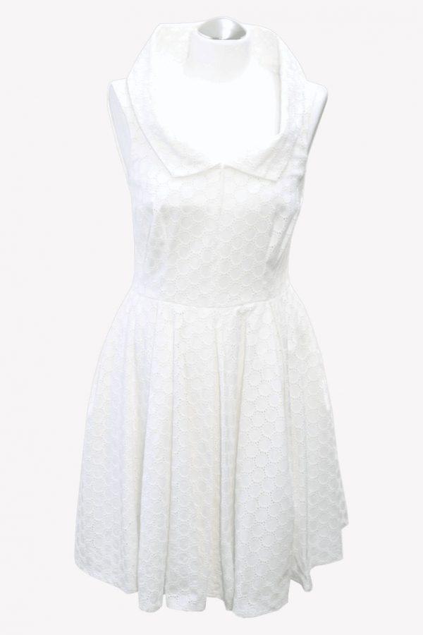 Karen Millen Spitzenkleid in Weiß aus Acetat Alle Jahreszeiten.1