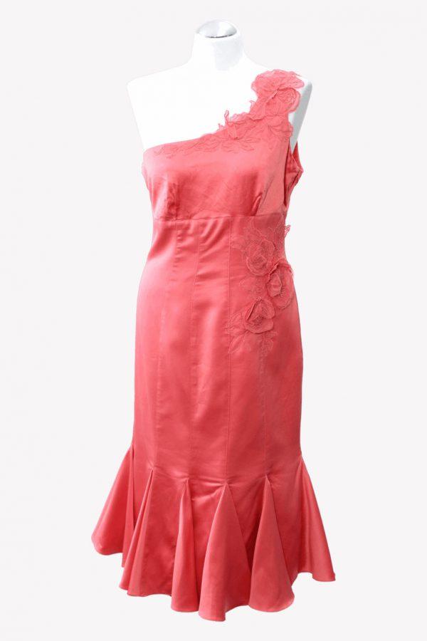 Karen Millen Kleid in Orange aus Seide Frühjahr / Sommer.1