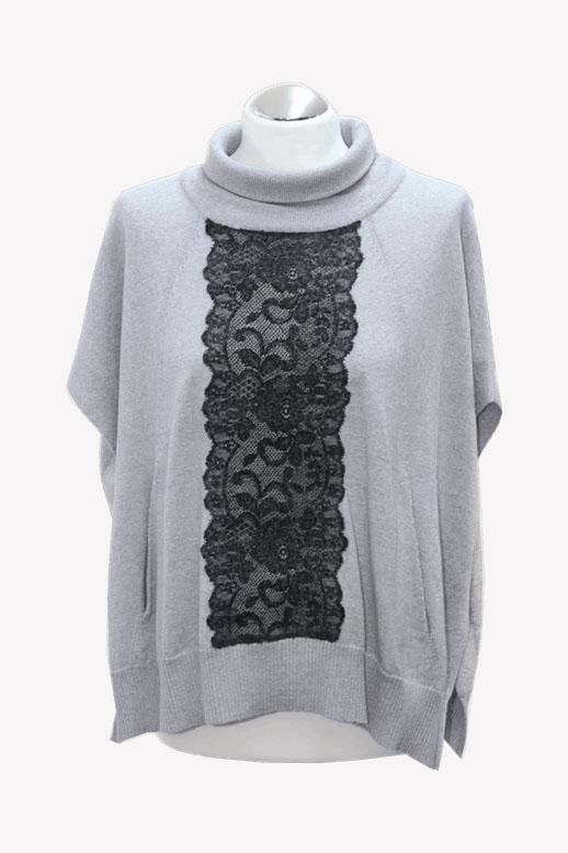 Karen Millen Wollpullover in Grau aus Wolle Herbst / Winter.1