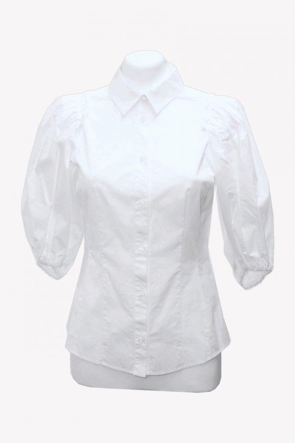 Karen Millen Hemd in Weiß aus Baumwolle Alle Jahreszeiten.1