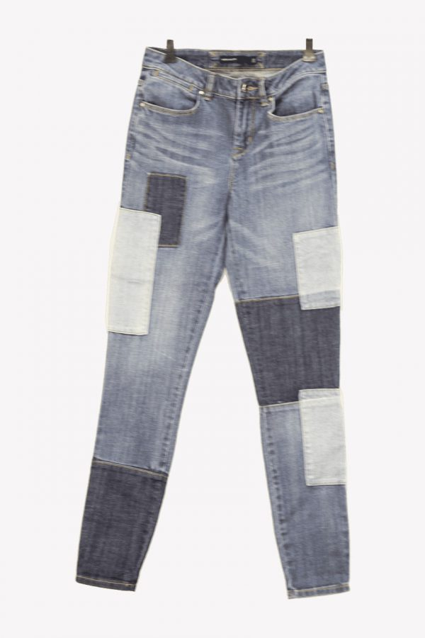 Karen Millen Jeanshose in Blau aus Baumwolle Alle Jahreszeiten.1