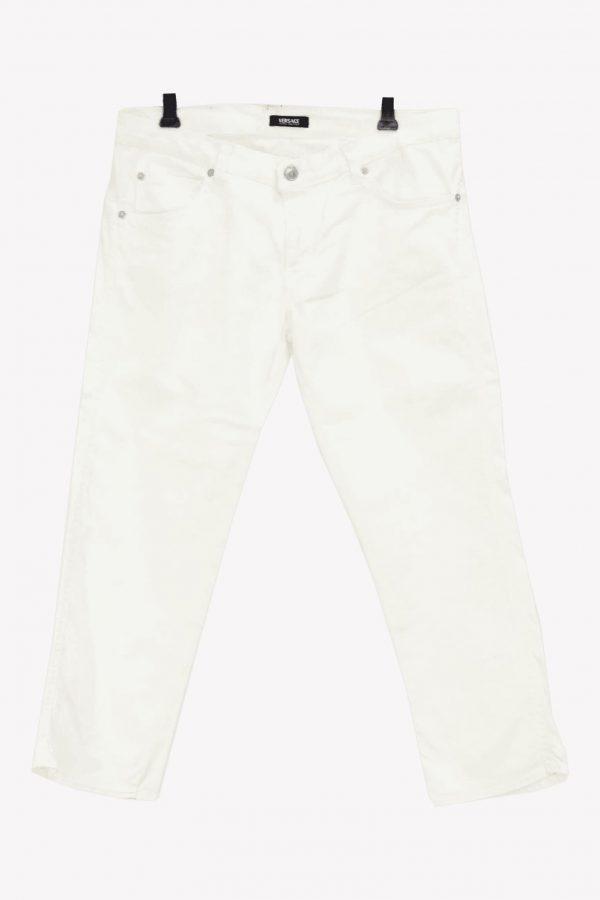 Versace Jeanshose in Weiß aus Baumwolle Alle Jahreszeiten.1