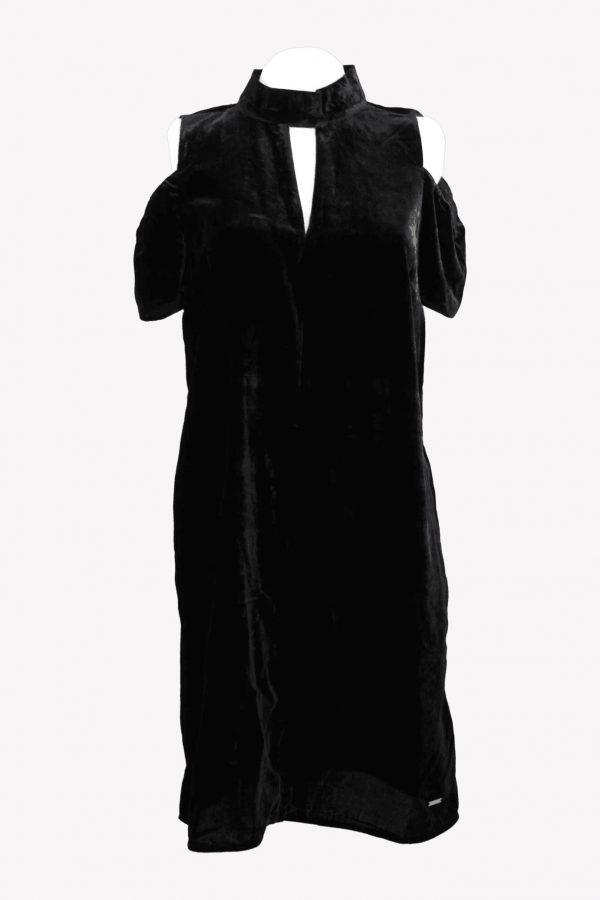 Armani Kleid in Schwarz aus Viskose Alle Jahreszeiten.1
