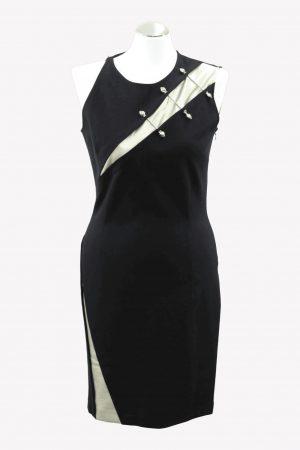 Just Cavalli Kleid in Schwarz aus Viskose Alle Jahreszeiten.1