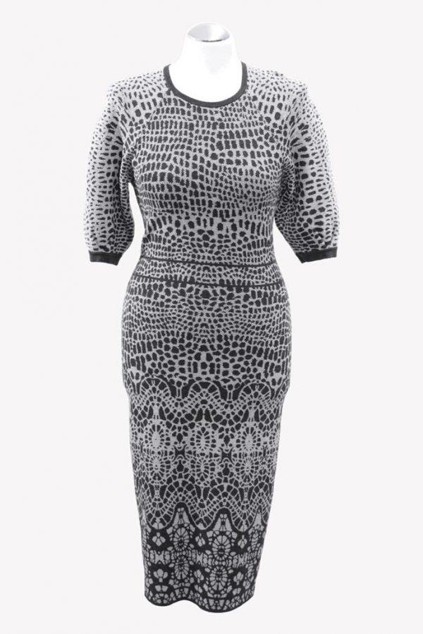 Karen Millen Kleid mit Muster aus Polyester Alle Jahreszeiten.1