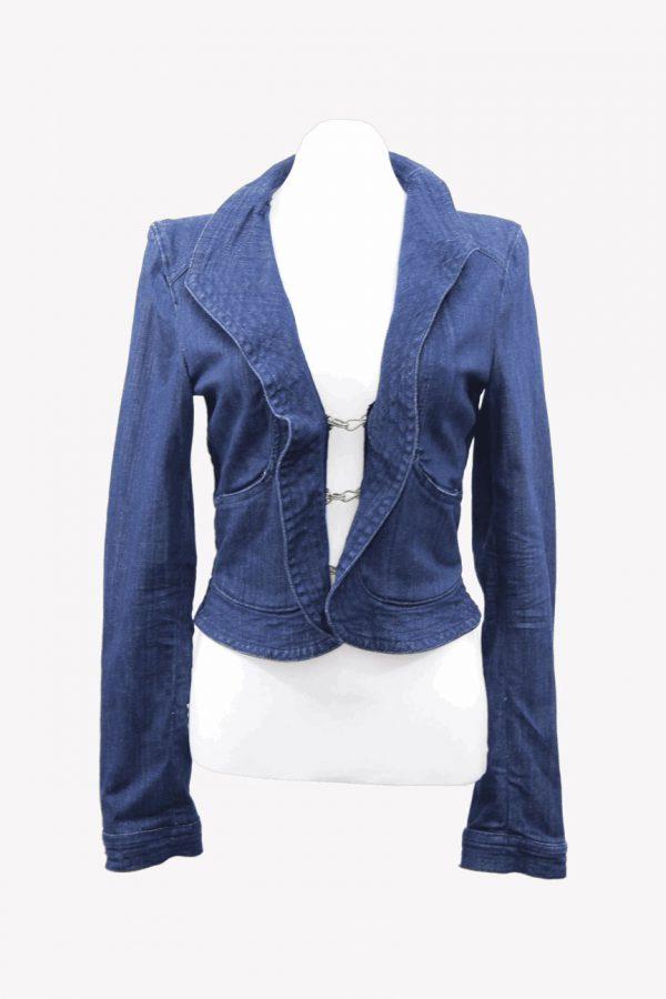 Armani Jeansjacke in Blau aus Baumwolle Alle Jahreszeiten.1