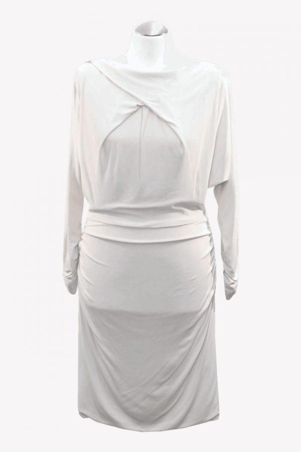 Karen Millen Kleid in Beige aus Viskose Alle Jahreszeiten.1