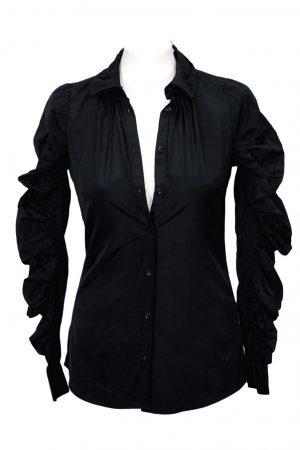 All Saints Hemd in Schwarz aus Polyester Alle Jahreszeiten.1