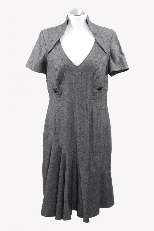 Karen Millen Kleid in Grau aus Viskose Alle Jahreszeiten.1