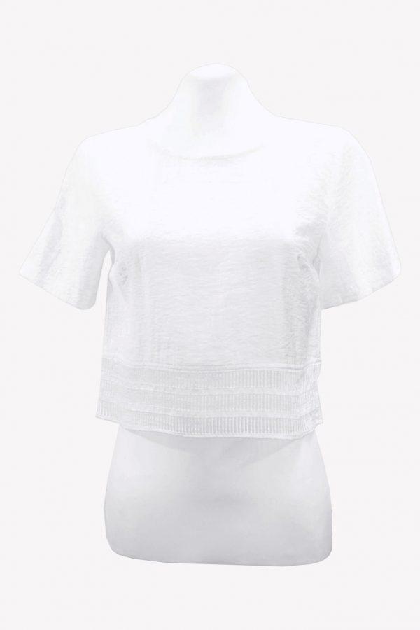 Armani Oberteil in Weiß aus Viskose Alle Jahreszeiten.1