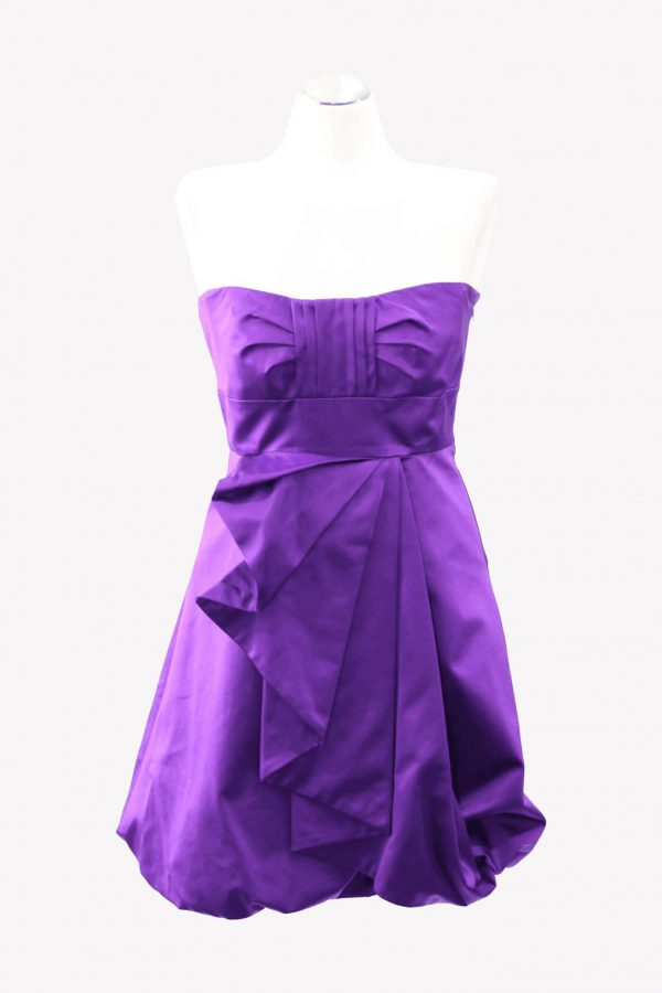 Karen Millen Kleid in Violett aus Baumwolle Alle Jahreszeiten.1