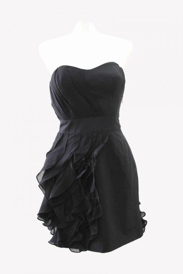 Karen Millen Kleid in Schwarz aus Seide Alle Jahreszeiten.1