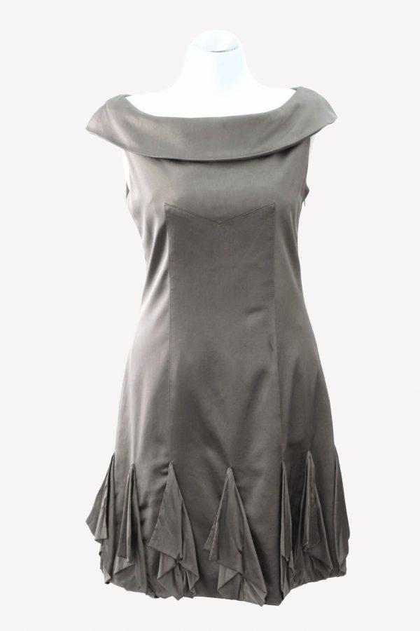 Karen Millen Kleid in Khaki aus Seide Alle Jahreszeiten.1
