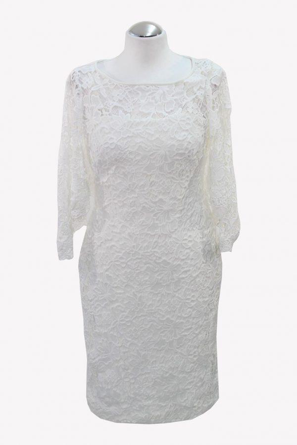 Ralph Lauren Spitzenkleid in Weiß aus Polyester Alle Jahreszeiten.1