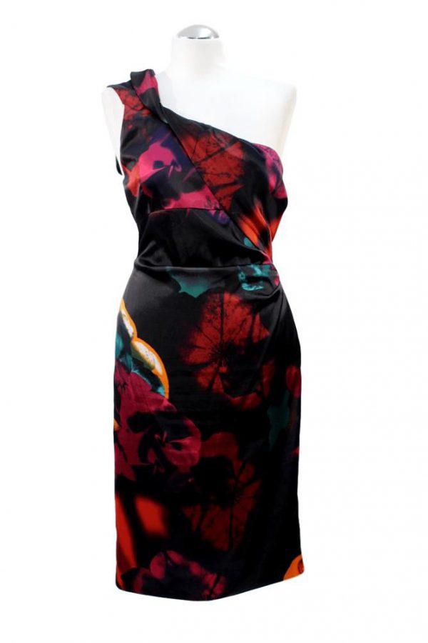 Karen Millen Kleid mit Muster aus Acetat Alle Jahreszeiten.1