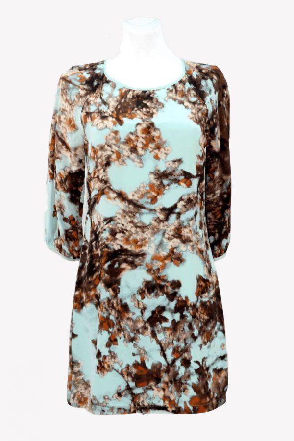 Ted Baker Kleid mit Muster aus Seide Alle Jahreszeiten.1