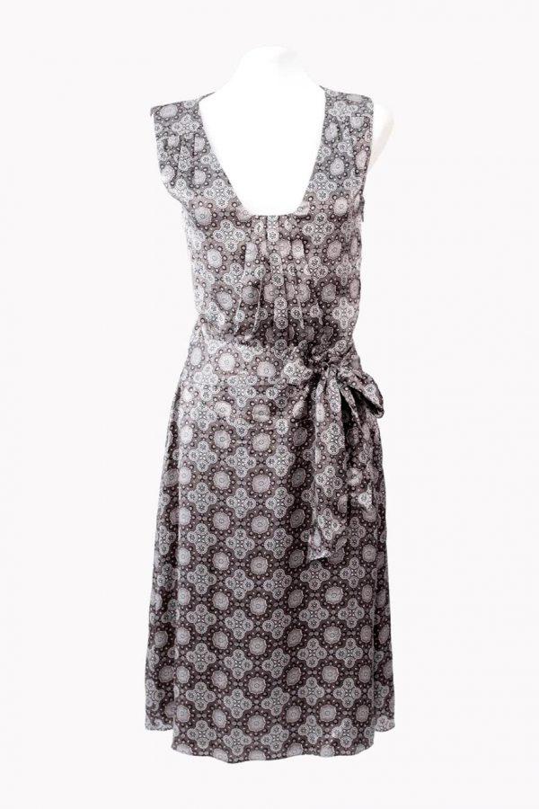 Ted Baker Kleid mit Muster aus Seide Frühjahr / Sommer.1
