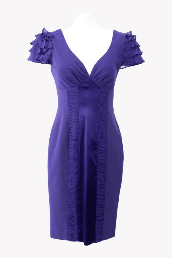 Karen Millen Kleid in Violett aus Polyester Alle Jahreszeiten.1