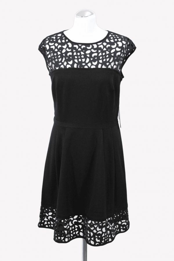 Ralph Lauren Skaterkleid in Schwarz aus Viskose Alle Jahreszeiten.1