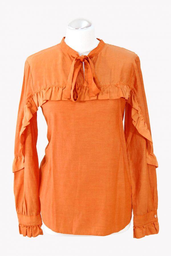 Hugo Boss Bluse in Orange aus Seide aus Seide Alle Jahreszeiten.1