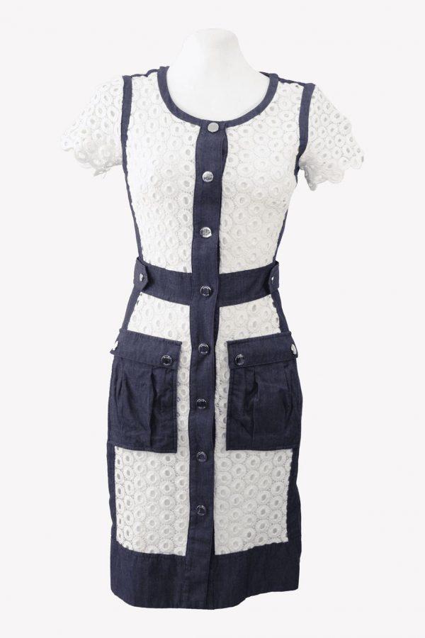 Karen Millen Shiftkleid in Multicolor aus Baumwolle aus Baumwolle Alle Jahreszeiten.1
