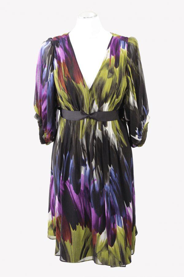Ted Baker Skaterkleid in Multicolor aus Seide aus Seide Alle Jahreszeiten.1