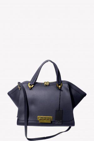 Zac Posen Schultertasche in Blau aus Leder.1