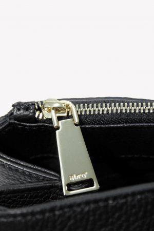 Handgelenktasche in Schwarz aus Leder Abro