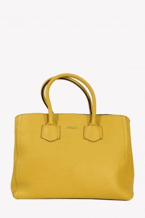 Furla Handgelenktasche in Gelb aus Leder.1