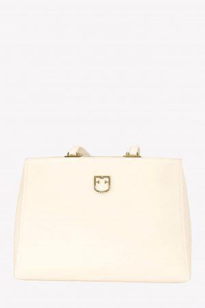 Furla Handgelenktasche in Weiß aus Leder.1