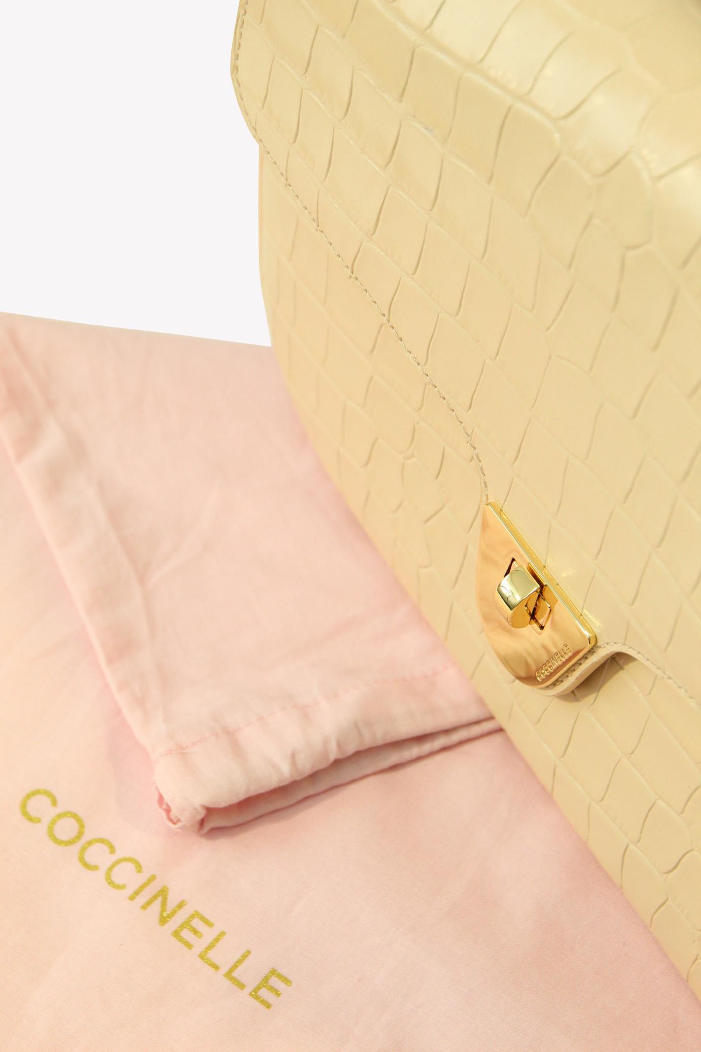 Umhängetasche in Beige aus Leder Coccinelle