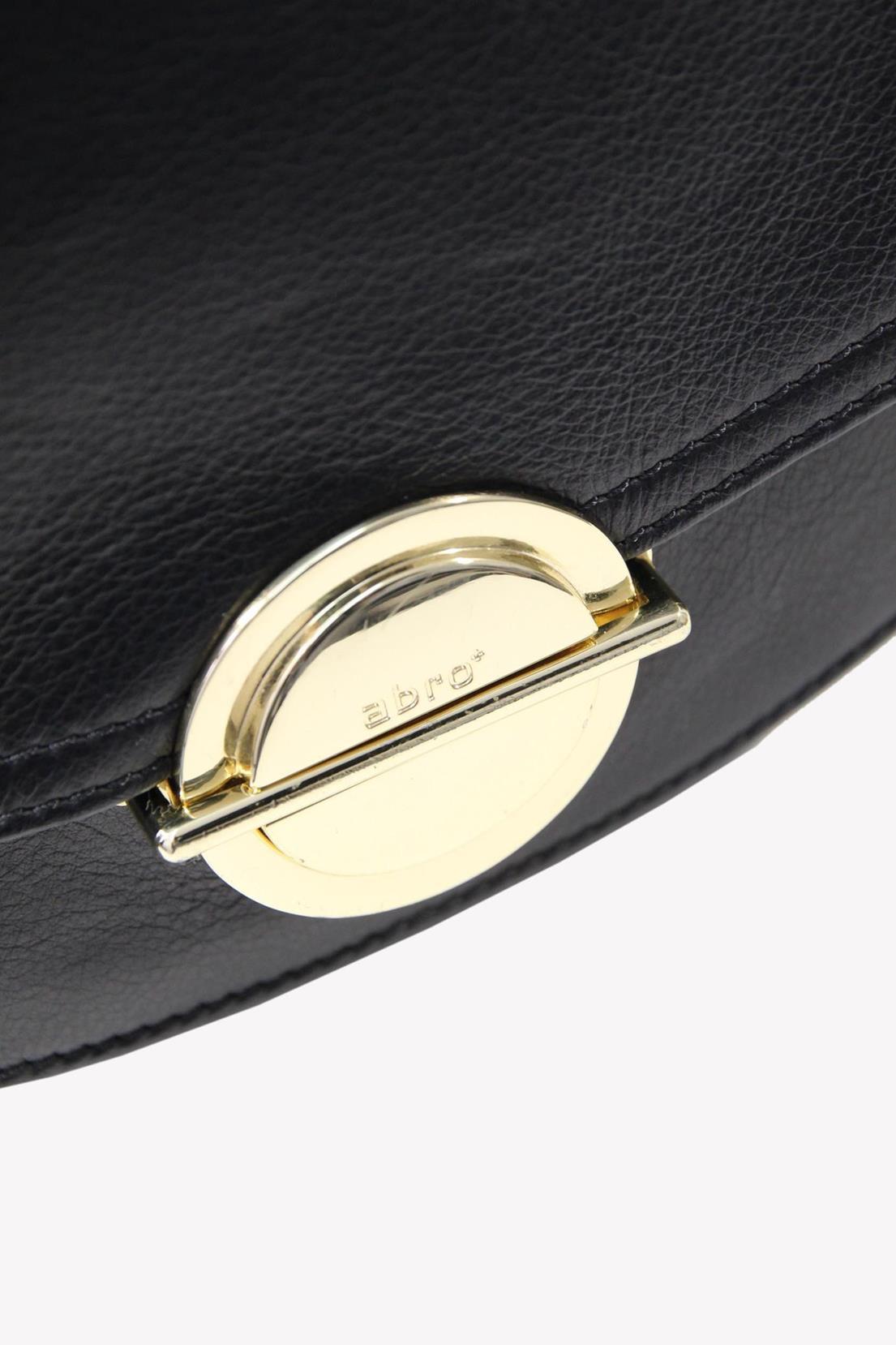 Umhängetasche in Schwarz aus Leder Abro