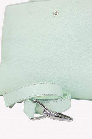 Handgelenktasche in Grün aus Leder Aigner