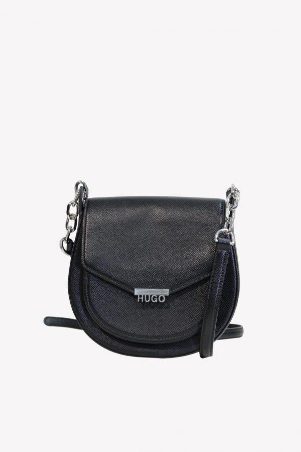 Hugo Boss Umhängetasche in Schwarz aus Leder.1
