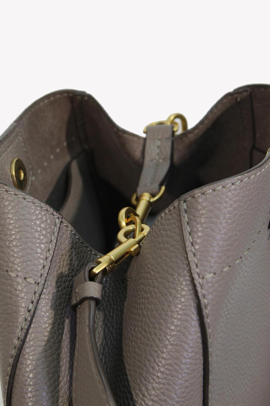 Schultertasche in Grau aus Leder Tory Burch