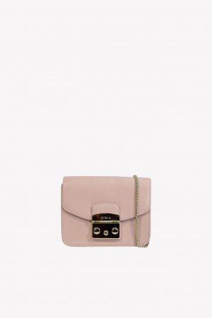 Umhängetasche in Rosa aus Leder Furla