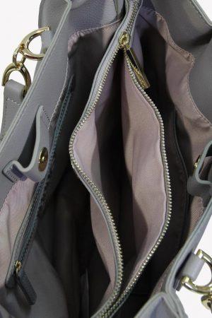 Schultertasche in Grau aus Leder Liu Jo