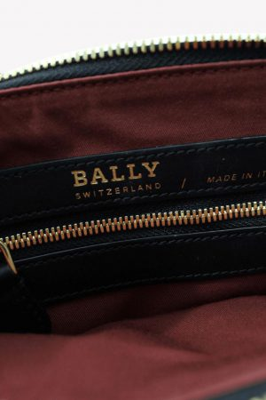 Umhängetasche in Schwarz aus Leder Bally