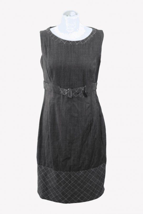 Karen Millen Shiftkleid in Grau aus Wolle aus Wolle Alle Jahreszeiten.1